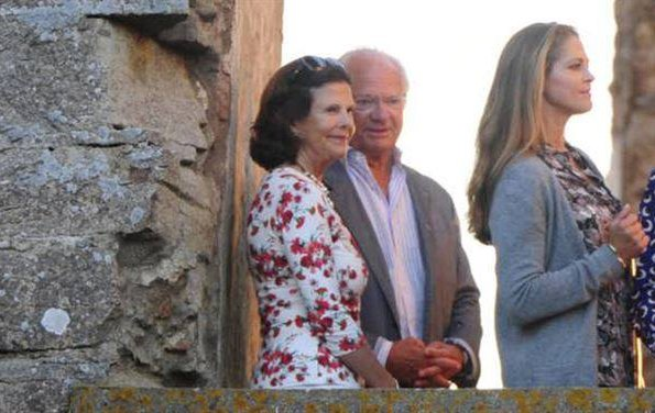 King Carl Gustaf, Queen Silvia, Princess Madeleine, Prince Carl Philip, Princess Sofia of Sweden and Prince Nicolas