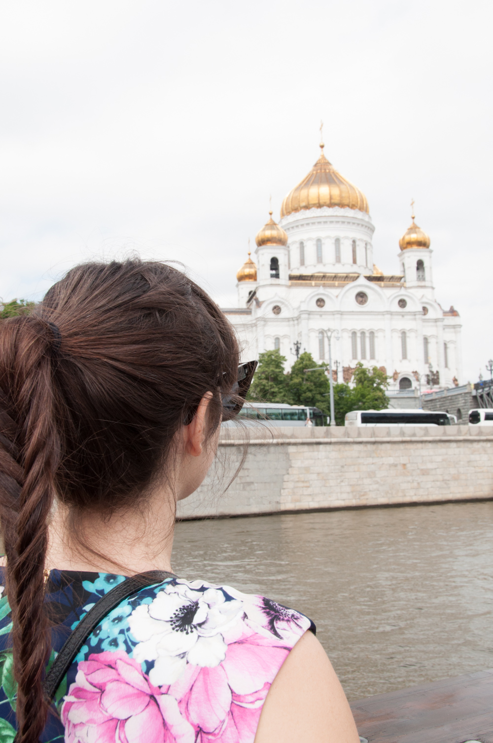 Eliza J Scuba Fit and Flare Dress in Moscow Russia