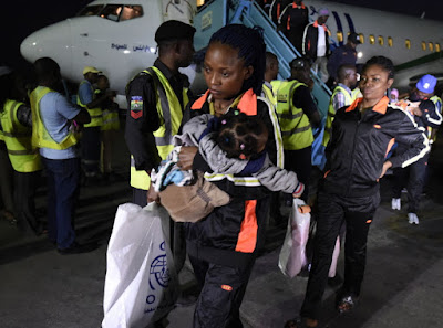 134 nigerians return from libya last night