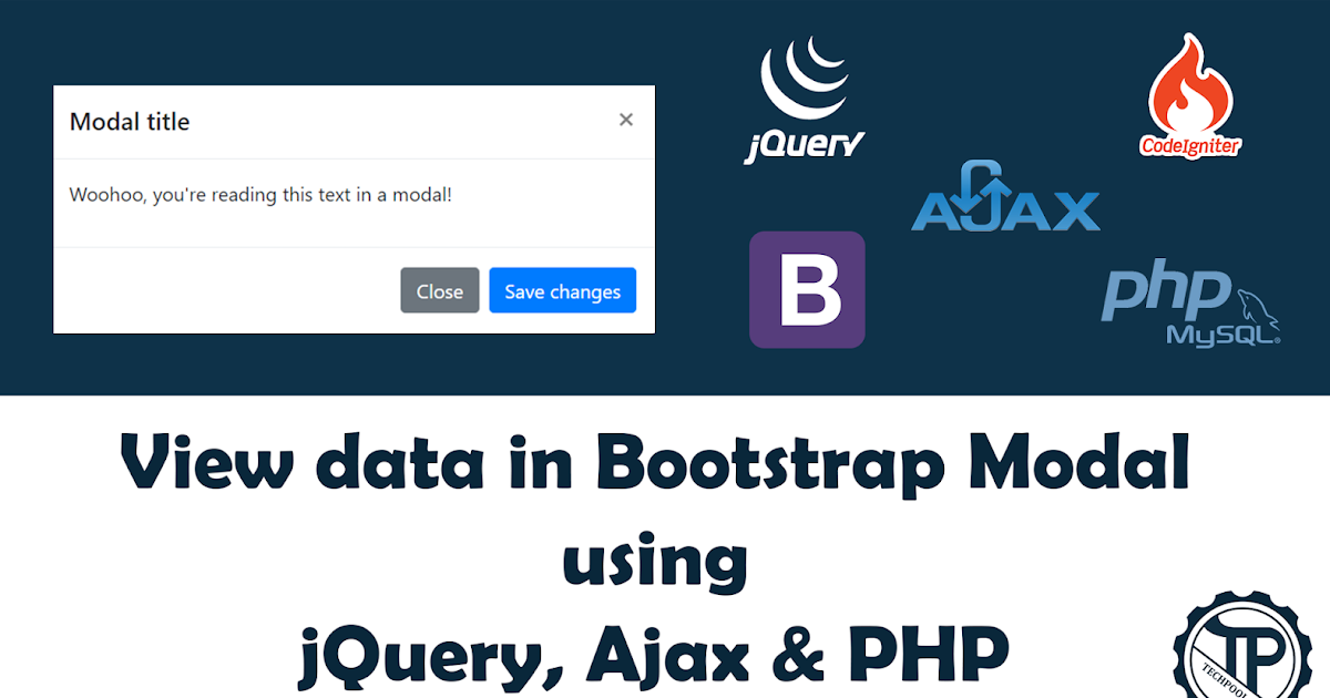 View data in a Bootstrap modal using Ajax, jQuery and PHP