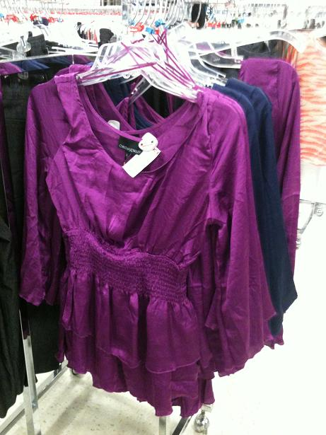 2486e2475 Pictured: Cynthia Rowley Silk Top in popular purple for Fall. (photo: M.  Hall)