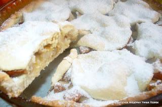 песочный грушевый пирог