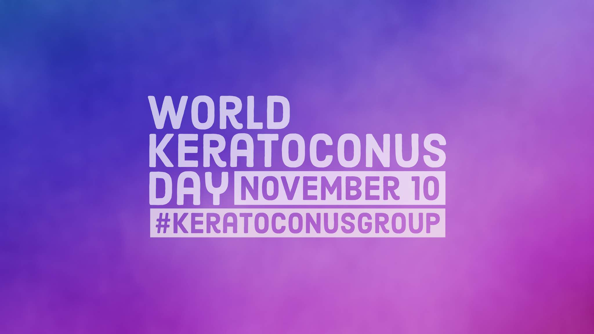 World Keratoconus Day 2018 Desktop or Tablet Wallpaper