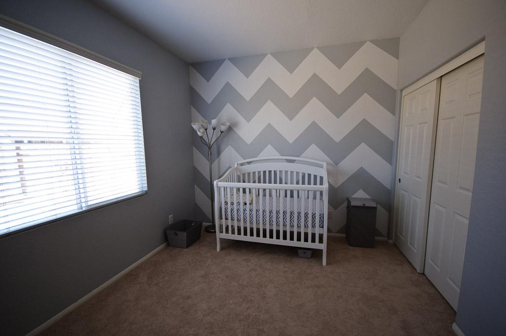 Baby Room Gray And White Chevron