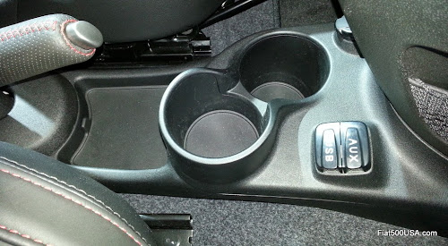 2015 Fiat 500 Console Cup Holders