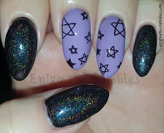 Purple-Holo-Nails