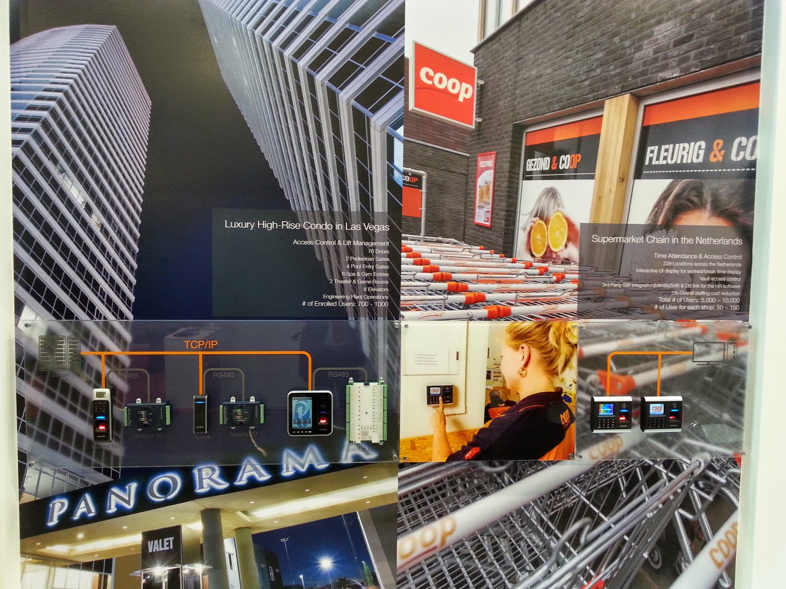 control de presencia y accesos para una cadena de supermercados