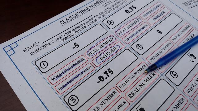 Simply Centers Algebra 1 Classifying Numbers – Classifying Numbers Worksheet