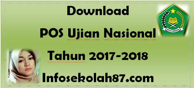 Download POS Ujian Nasional Tahun 2017-2018