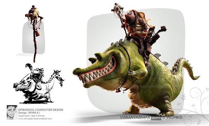 'ADAM' 3D Character design....Done by Riyas Mohammed, Final Year Bsc. VFX Student of Vismayasmax Animations..!!