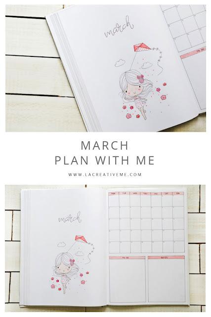 2019 March Bullet Journal Setup