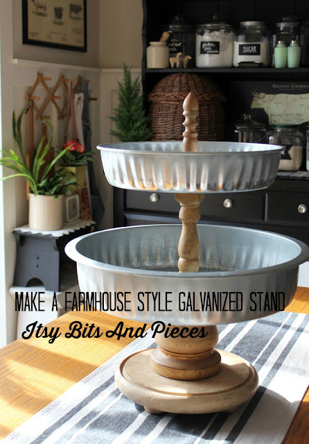 Farmhouse Style Galvanized Stand- Itsy Bits And Pieces