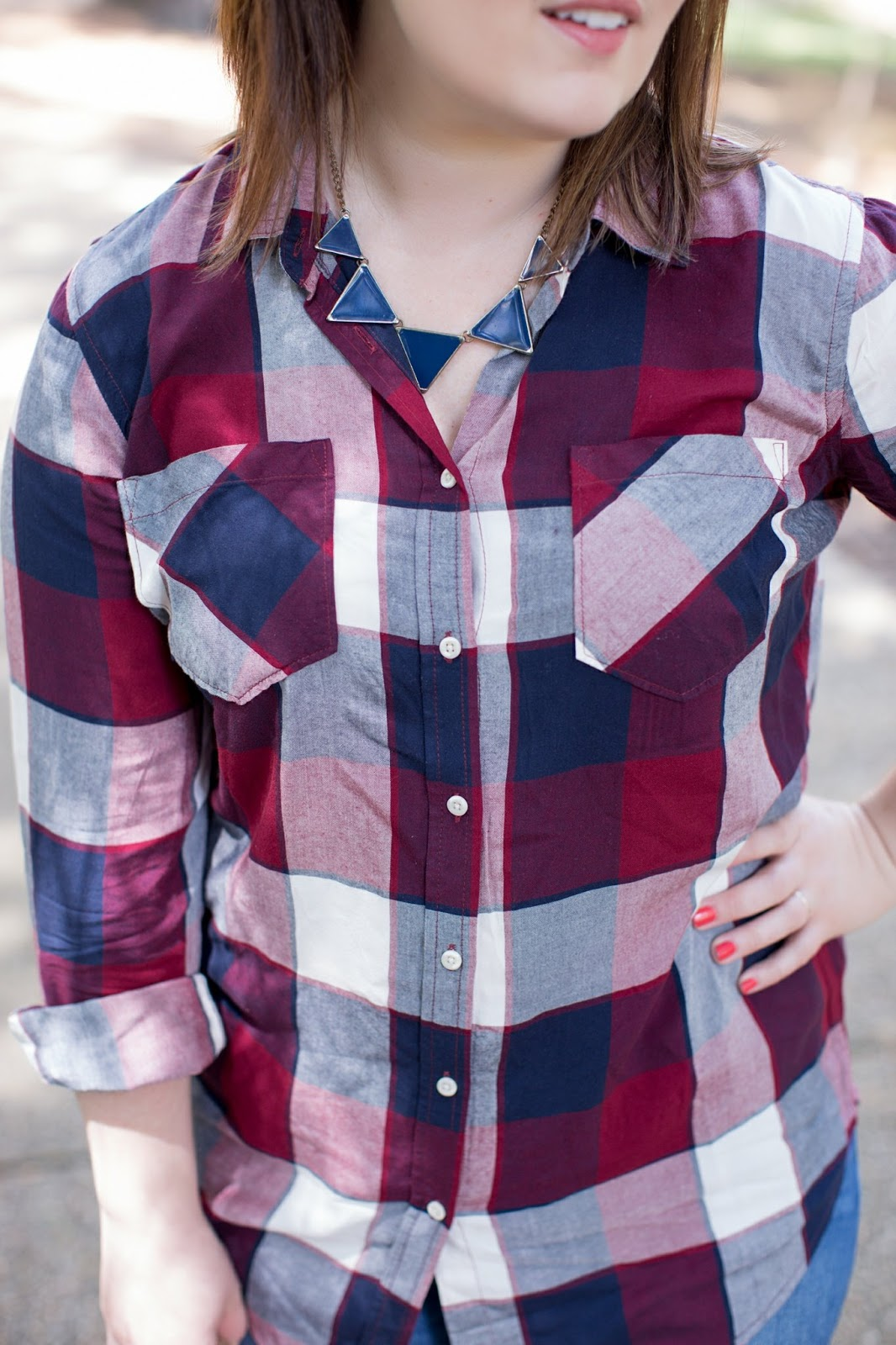 Rebecca Lately Merona Favorite Plaid Shirt Old Navy Rockstar Seavees Monterey Madewell Kensington Satchel