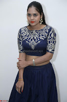 Ruchi Pandey in Blue Embrodiery Choli ghagra at Idem Deyyam music launch ~ Celebrities Exclusive Galleries 010.JPG