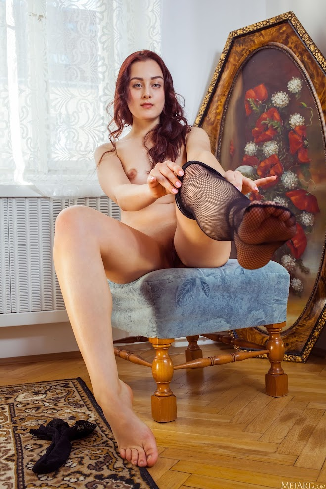 4125118436 [Met-Art] Olivia Honey - Fishnet Lingerie