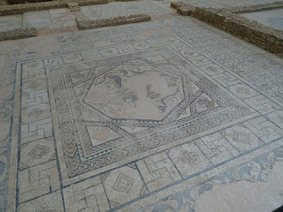 Mosaico de las cuatro estaciones. Villa romana de la Tejada