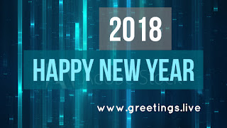 Digital expression new year live greetings 2018