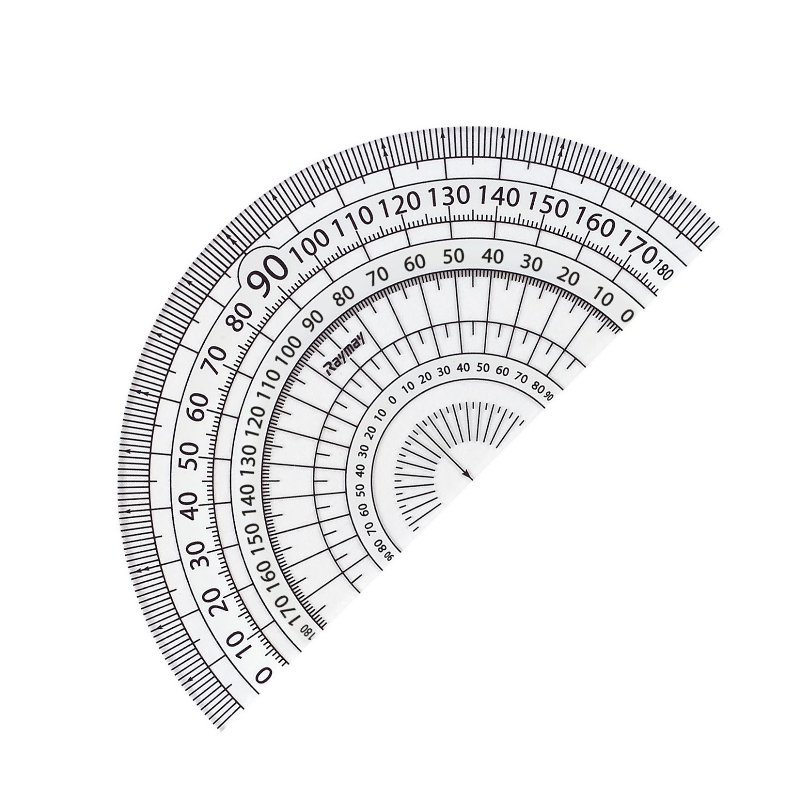 レイメイ 見やすい白黒分度器 白 9cm APJ151W