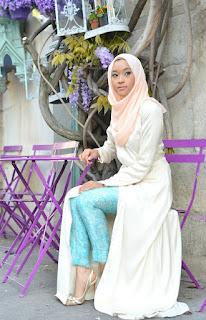 Model Baju Pesta Muslim Bahan Brokat