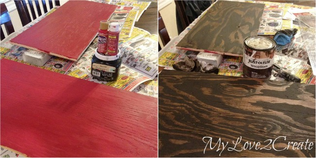 painting and staining boards