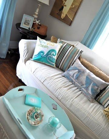 coastal home living room