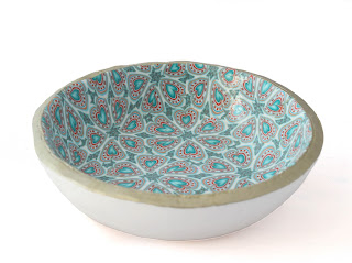 All ready my Turquoise Trinket Dish handmade from polymer clay by Lottie of London