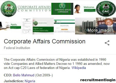 Latest Recruitment @CAC | Corporate Affairs Commission Job Apply Now