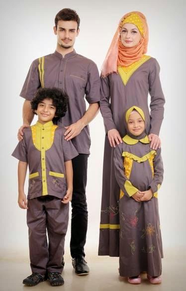 Contoh Baju Muslim Sarimbit untuk Keluarga