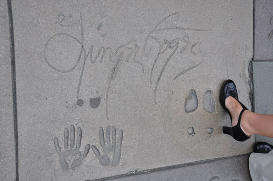 Ginger Rogers footprints Grauman's Chinese Theater by Lady by Choice