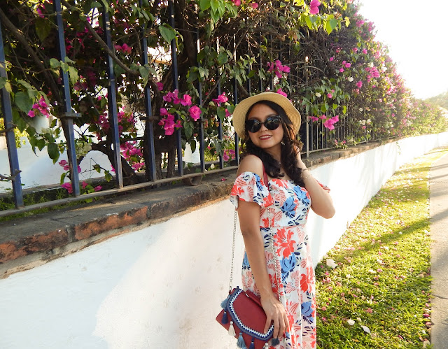 Spring floral dress zaful