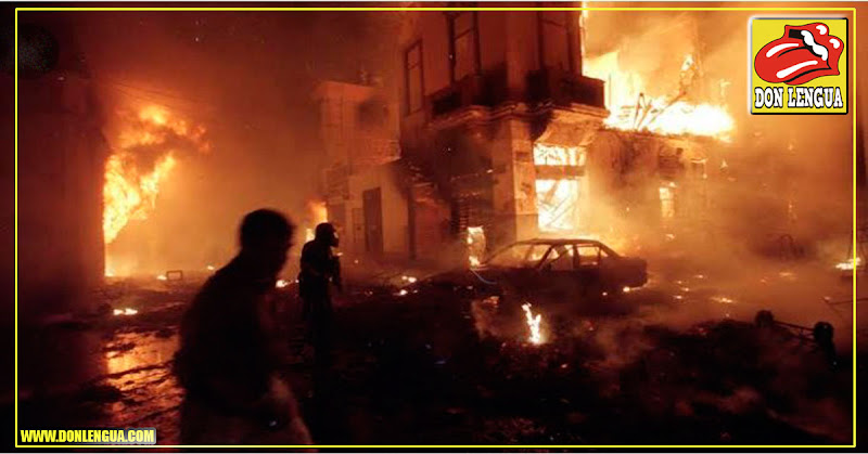 Se quema el Centro Histórico de Lima Perú en un voraz y enorme incendio