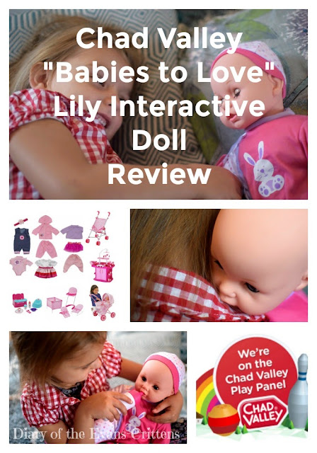 Chad Valley, Babies to Love, Lily Interactive Doll, Review, Pin, Argos, toy,