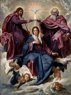 La Coronación de María como Reina del Cielo y de la tierra.