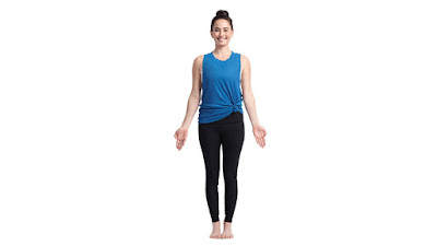 Tadasana Simple yoga exercises to get natural glow on your face