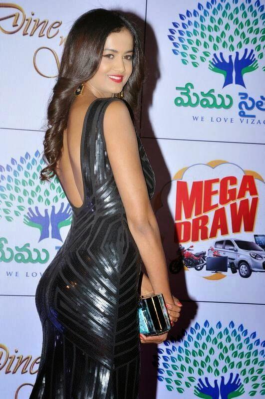 Shubra Aiyappa images, Shubra Aiyappa hot Pics in Black Tight Dress - Indian Kim Kardashian