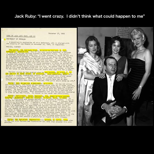"Jack Ruby's remarkable 1963 psychiatric evaluation - ""I went crazy."""