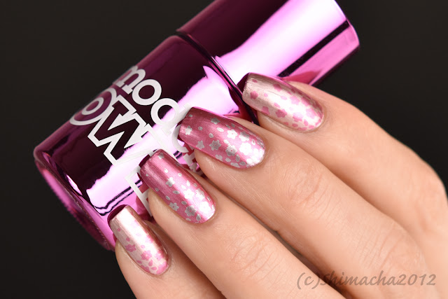 models OWN Chrome Silver, Cerise, Nail Stamping, スタンピングネイル