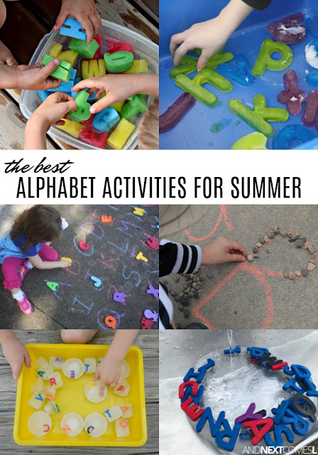 Summer alphabet activities for kids - hyperlexia activities