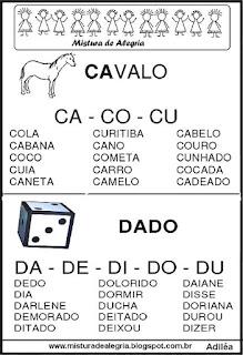 Fichas de leituras letras C-D