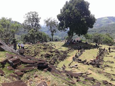 Gunung Padang Pyramid Terrace 1