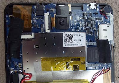 Tablet Bravva BV placa lógica