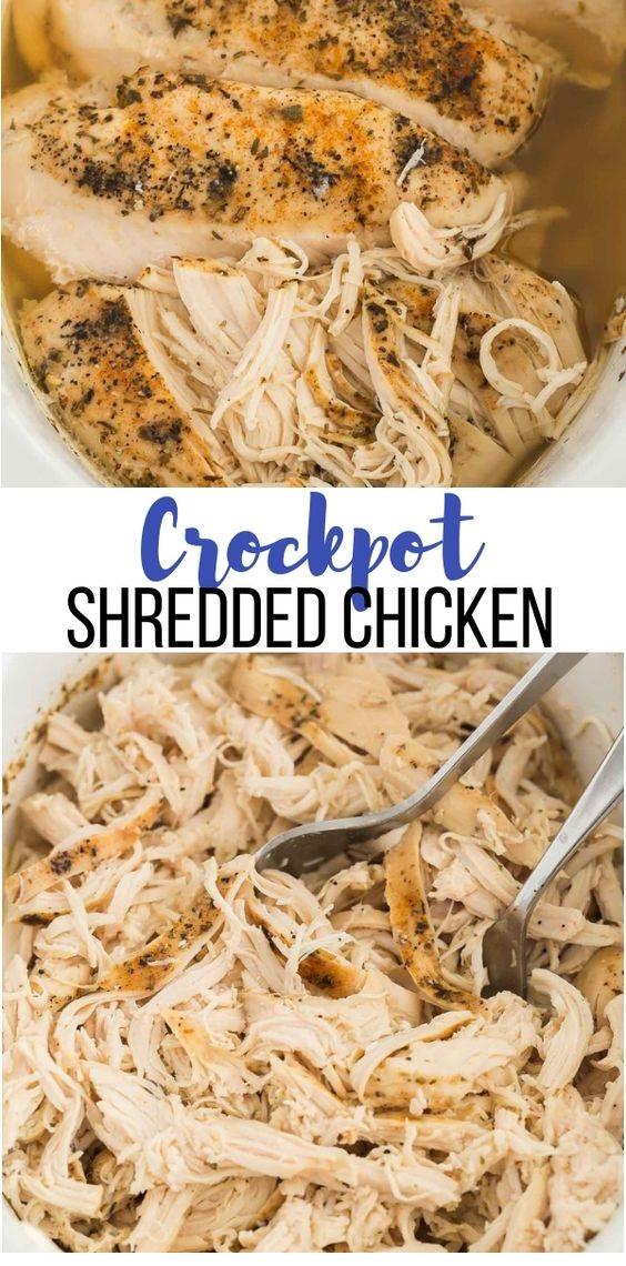 Crockpot Shredded Chicken