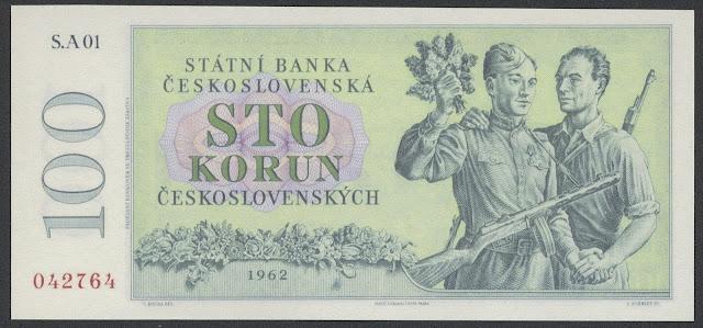 Czechoslovakia 100 Czech koruna banknotes images