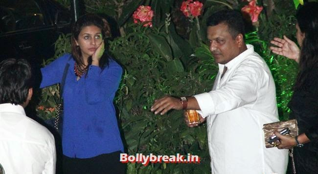 Huma Qureshi and Sanjay Gupta, Kainaat, Huma & Manjari at Sanjay Gupta Party for Milap Zaveri