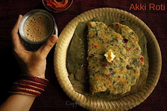 Mix Vegetable Akki Roti
