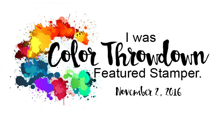 Color Throwdown Featured Stamper!