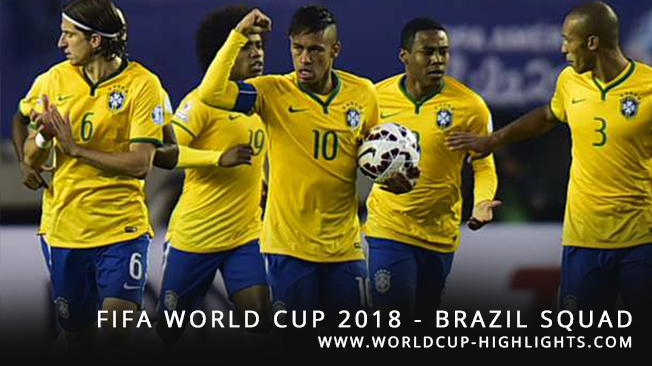 FIFA World Cup 2018 - Brazil Squad