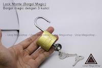 Jual alat sulap lock monte / Gembok sulap