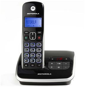 Telefone Digital sem Fio Motorola Dect 6.0 Auri 3500SE com Identificador de Chamadas, Secretária Eletrônica, Visor e Teclado Iluminados Preto