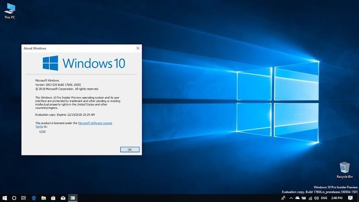 Microsoft Rilis Windows 10 Insider Preview Build 17666 Ke Fast Ring dan Skip Ahead